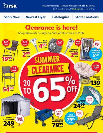 This week's forecast: HOT clearance offers