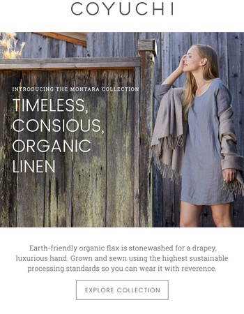 Wear what feels good: Organic linen