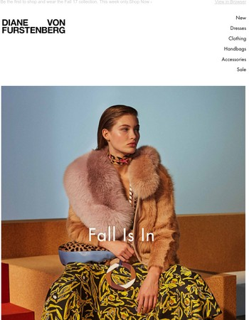DVF.COM EXCLUSIVE: Fall 17 is in.