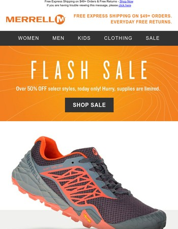 FLASH SALE: Over 50% Off Select Styles