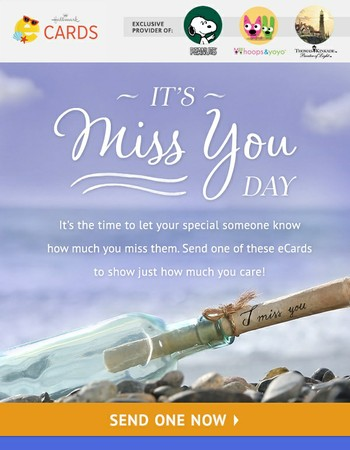 Send an eCard for Miss You Day