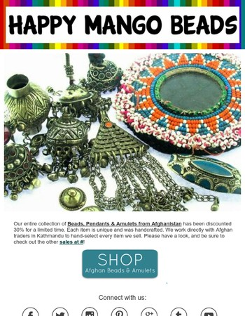 Tribal Beads & Amulets from Afghanistan - ON SALE