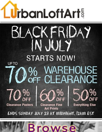 BLACK FRIDAY IN JULY!