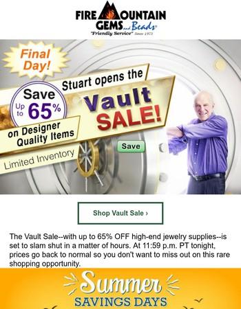Vault Sale Ends but Summer BEAD Savings Continue