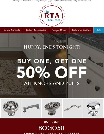 BOGO 50% Off Knobs & Pulls - Last Chance!