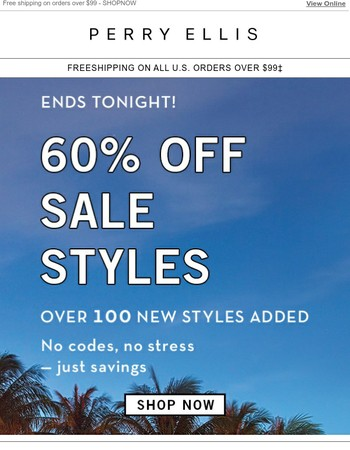 Ends Tonight: 60% Off Sale
