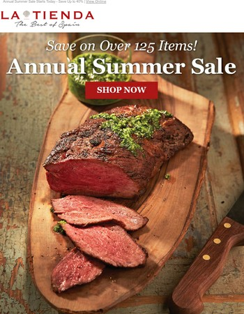 Annual Summer Sale is Here! Up to 40% Off 125 Items