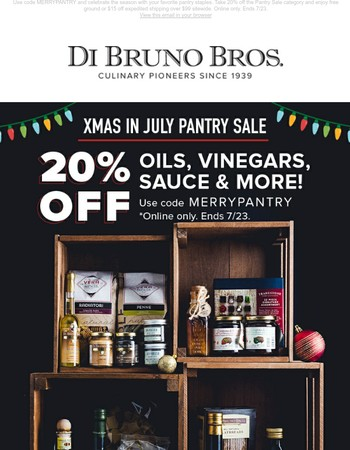 Summer Pantry Sale! Stock Up with 20% Off!