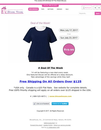 Blouse House Deal Of The Week