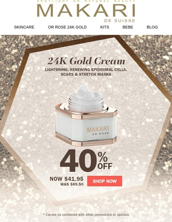 Keep your skin clear and blemish free | Buy the Makari 24K Gold Cream