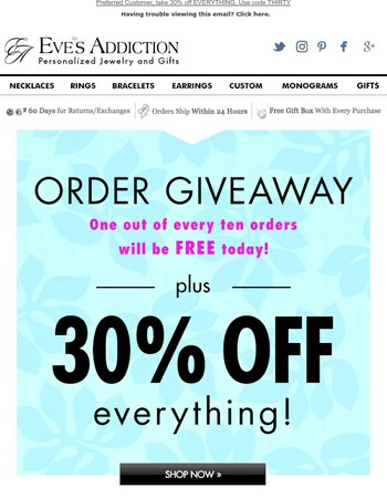 Monogram Monday + Order GIVEAWAY! 30% Off Our Most Loved