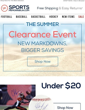 HUGE DISCOUNTS: The Summer Clearance Sale!