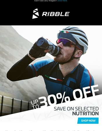 30% OFF Selected NUTRITION