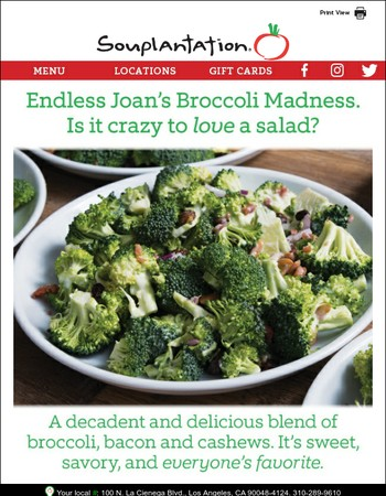 Our most famous salad drives everyone nuts.