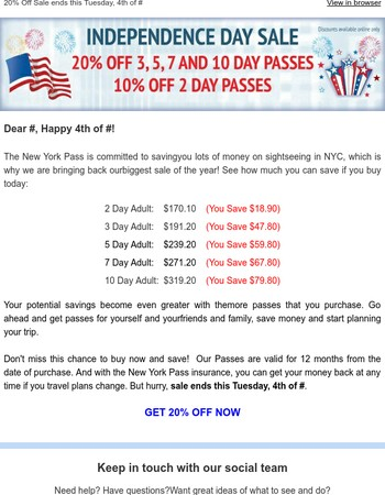 Happy 4th of July - Get 20% Off