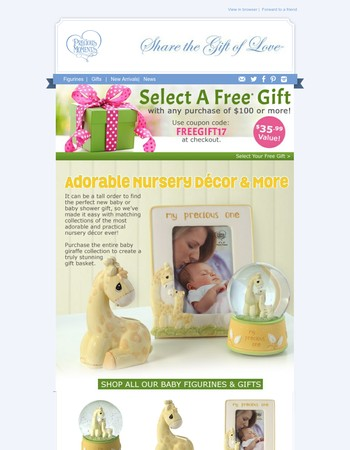 Free Gift Ends Soon - NEW! Adorable Nursery Décor& More