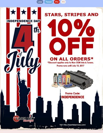 Laser Tek Services 4th of July Promo