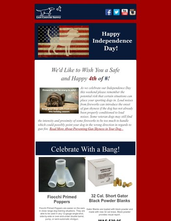 Have a Safe & Happy 4th! - We're Celebrating with Products that Bang!