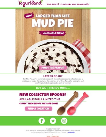 Capture the Spirit of Summer with our New Larger than Life Mud Pie froyo
