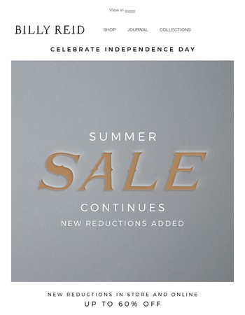 Celebrate the 4th! | Our Summer Sale Continues