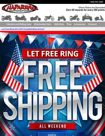 Free Shipping Ends Tomorrow!