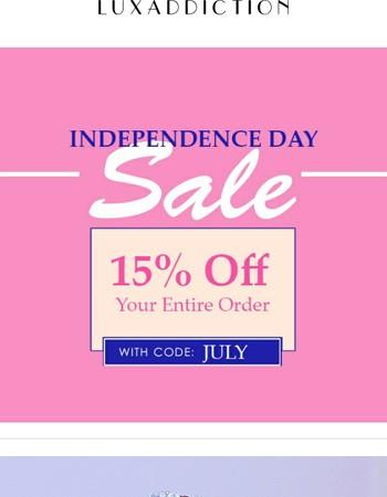 15% Off Flash Sale Ends Tomorrow
