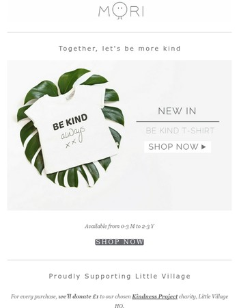Our Be Kind t-shirt is here