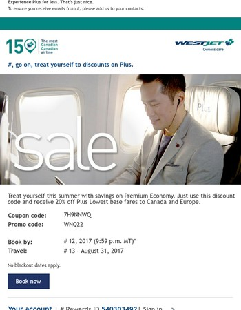 Save 20% on Plus Lowest base fares