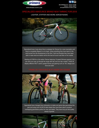 SPECIALIZED ANNOUNCE BRAND NEW TARMAC FOR 2018!