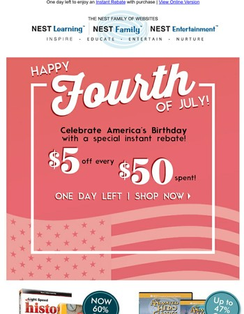 Happy 4th of July! Here's $5...