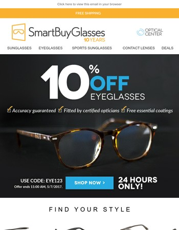 It's as easy as 1.2.3 | Order Glasses on SmartBuyGlasses | Your 10% OFF voucher
