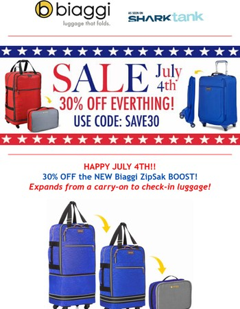 Happy 4th July SALE! LAST CHANCE 30% OFF!!