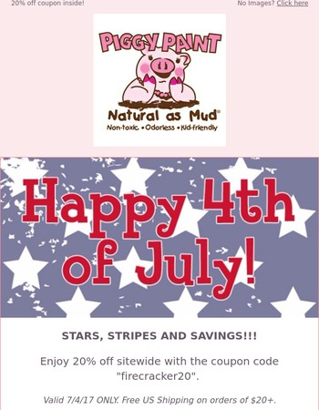Stars, Stripes, and SAVINGS!