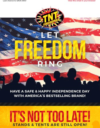 Happy 4th of July! Celebrate Freedom with TNT Stands & Tents