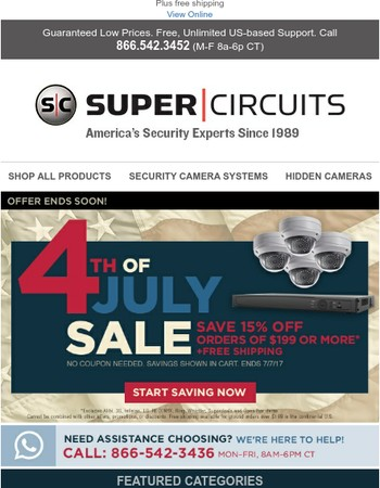 Celebrate the Fourth and save 15% site-wide