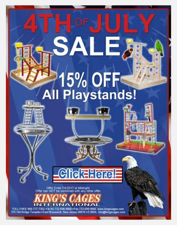 4th Of July Sale! 15% OFF All Playstands!