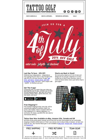 ☠ Last Day To Save - July 4th Deals 20% Off ☠