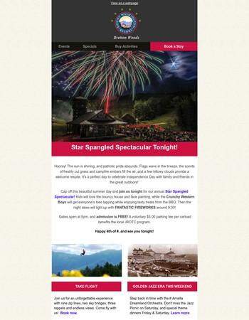 Fantastic Fireworks Tonight at Bretton Woods!