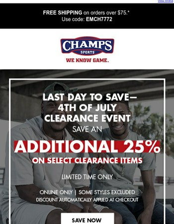 One last chance to get 25% off!