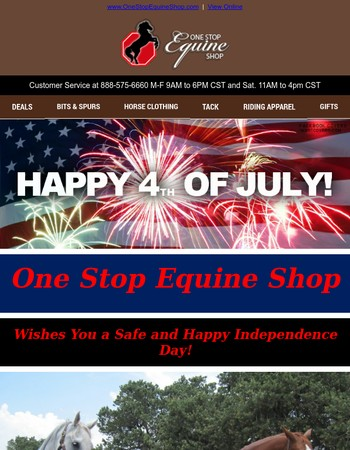 Happy 4th of July from One Stop Equine Shop
