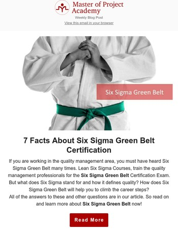 7 Facts About Six Sigma Green Belt Certification