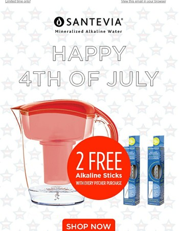 Happy 4th of July: Get 2 Free Alkaline Sticks!