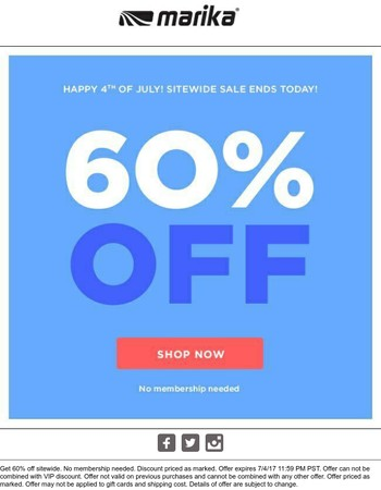 60% Off First, Then Fireworks