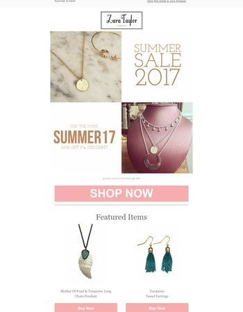 Don't miss our summer sale!