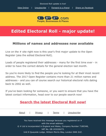 2017 edited Electoral Roll - major update!
