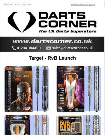 Darts Corner - Target - RvB Launch - In Stock Now