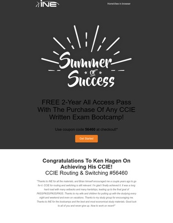 FREE All Access Pass With Purchase Of CCIE Written Exam Bootcamp!