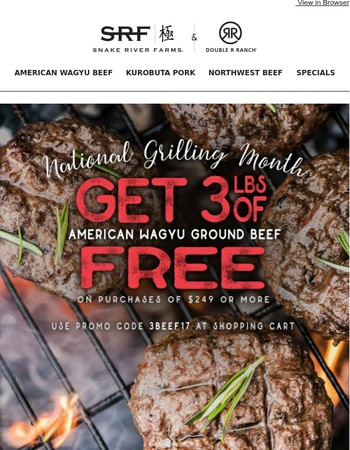 FREE American Wagyu Ground Beef | National Grilling Month is Here!