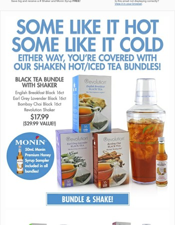 Try our Shaken Iced Tea Bundles Today!