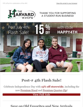 Post-July 4th Flash Sale -- 15% Off Today!